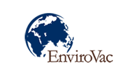 EnviroVac logo that includes a globe icon